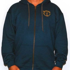 Hoodie with Zipper - Yellow Logo