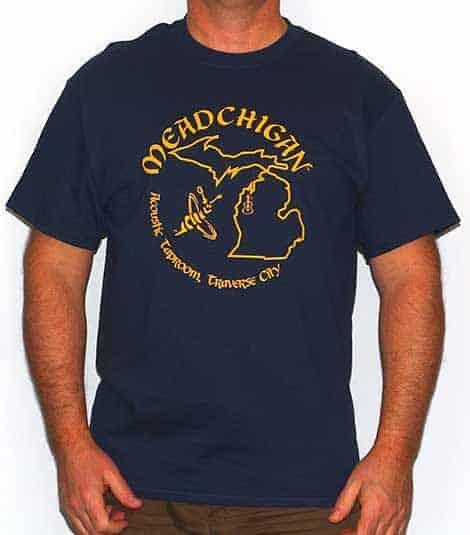 Meadchigan Tshirt - Maize & Blue