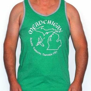 Meadchigan Tank Top - Green & White