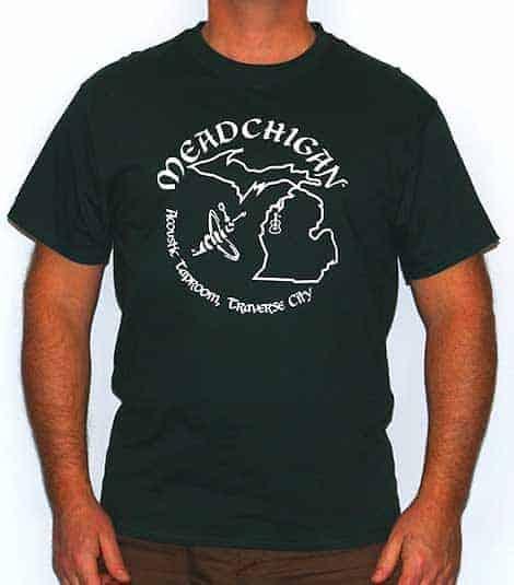 Meadchigan Tshirt - Green & White